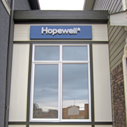 Exterior Dimensional Sign with Backlit Channel Letters