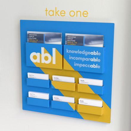 Folded Aluminum Brochure Holder