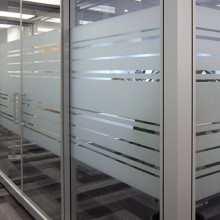 Custom Frosted Privacy Film for Offices