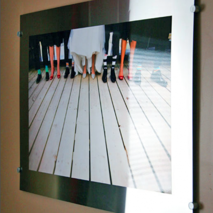 Stainless Steel Mounted Photo