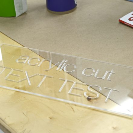 TEXT CUT INTO ACRYLIC